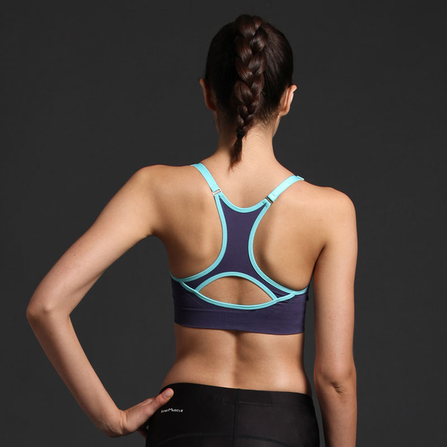 Bicoloured Yoga Top with Built-in Bra