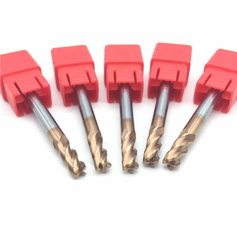 5 pièces HRC60 4mm En Carbure Monobloc FRAISE D4X11XD4X50L 4flute Longueur Standard fraise Latérale Fente Profilage moulin de visage