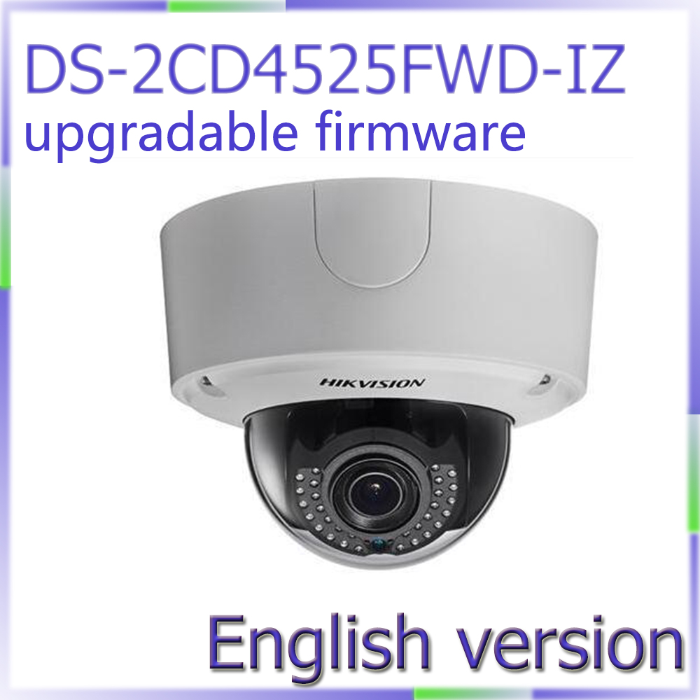 Free shipping English Version DS-2CD4525FWD-IZ 2MP Smart IP Outdoor Dome Camera Lightfighter Ultra WDR Camera free shipping english version ds 2cd4132fwd iz 3mp 120db wdr smart ip indoor dome camera support 128g poe