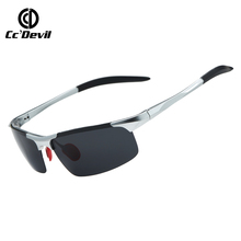 Sports Brand Classic Sunglasses Men Polarized Chameleon Discoloration Sun glasses for men fashion rimless square sunglasses