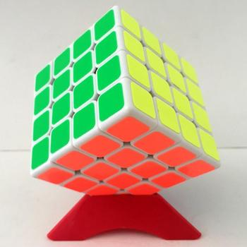 2019 New Arrivals ShengShou Wind Feng 4x4x4 Magic Cube Puzzle Speed Cube with PVC Sticker - Black Body