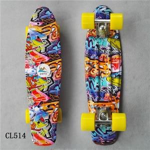 Image 3 - Mini Cruiser Skateboard LED Light Four Wheel Skate Board Adult&children Tablas De Skate Board Loaded Skateboard Complete