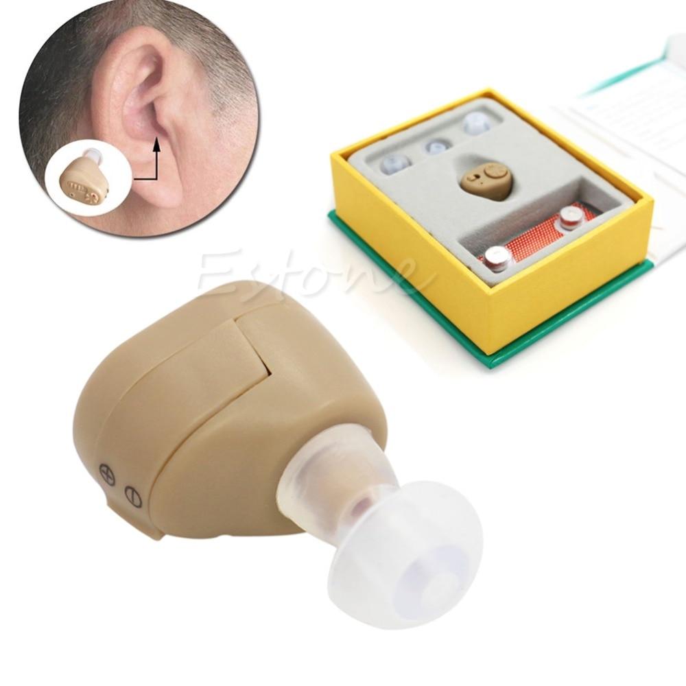 1 Set AXON K-86 In Ear Digital Hearing Aid Sound Amplifier Adjustable 3 Size Earplugs