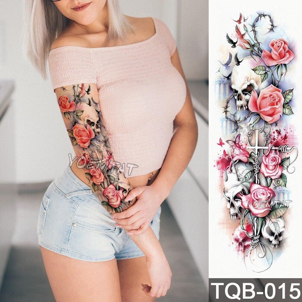 Vattentät tillfällig tatueringsklänning Skalle Ängelrosa - Tatuering och kroppskonst - Foto 2