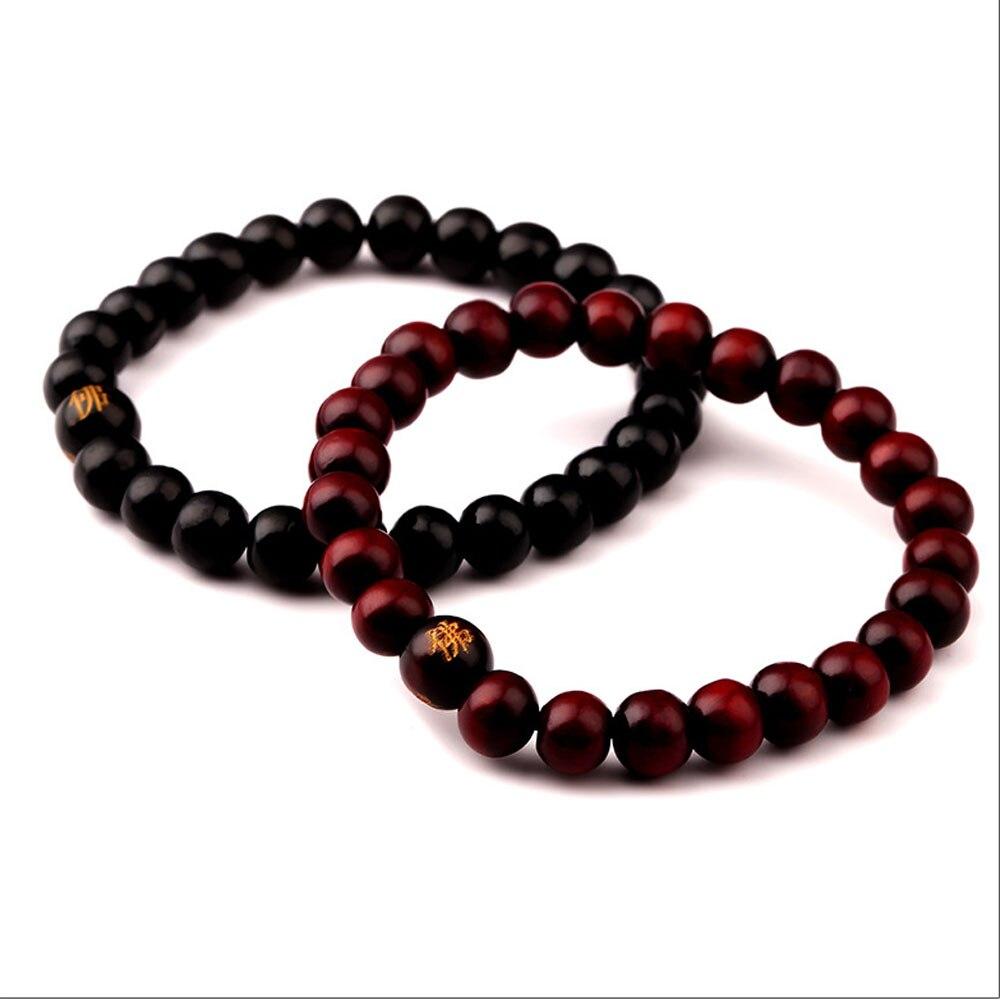 2ecdc67702f0 Los hombres del estilo de hip hop de madera budismo pulsera de cadena del  grano Brazaletes Swag GD moda pulsera regalo