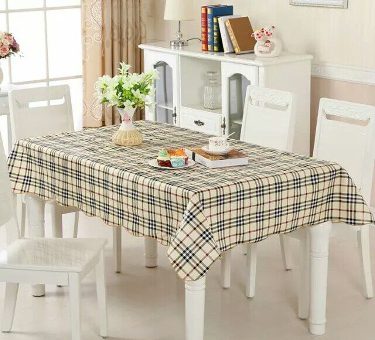 New Plaid PVC Tablecloth Waterproof Table Cloth Rectangular Table Cover Europe Rural Oilproof Waterproof Tablecloth Bronzing GY3