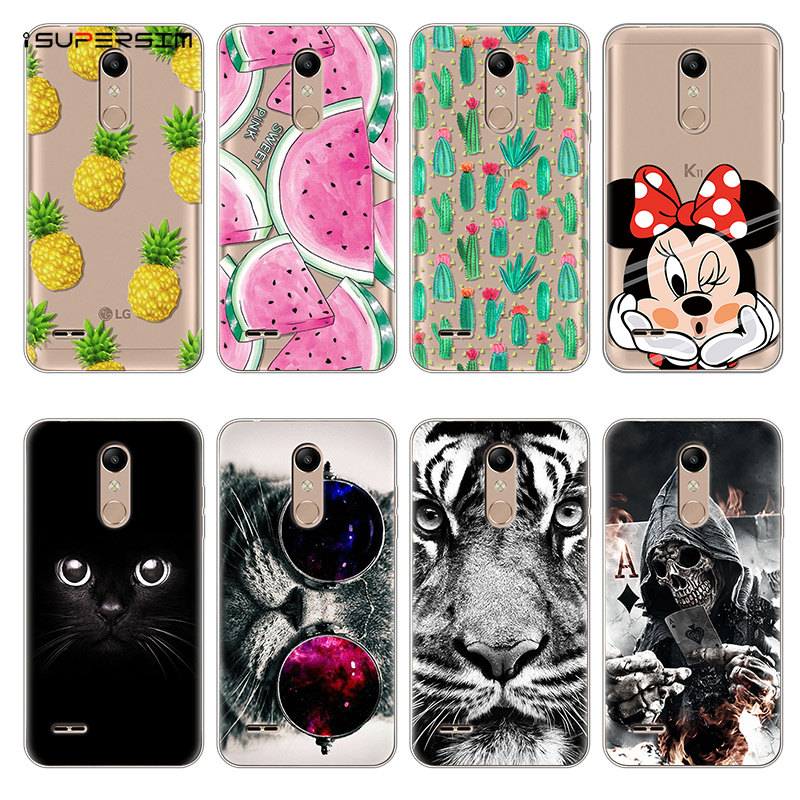 Silicone Cases Capa for <font><b>LG</b></font> <font><b>K11</b></font> Plus Case for <font><b>LG</b></font> <font><b>K11</b></font> + Thin Soft TPU Rubber Clear Bags Back Cute Cartoon Luxury Coque Cover Cases image