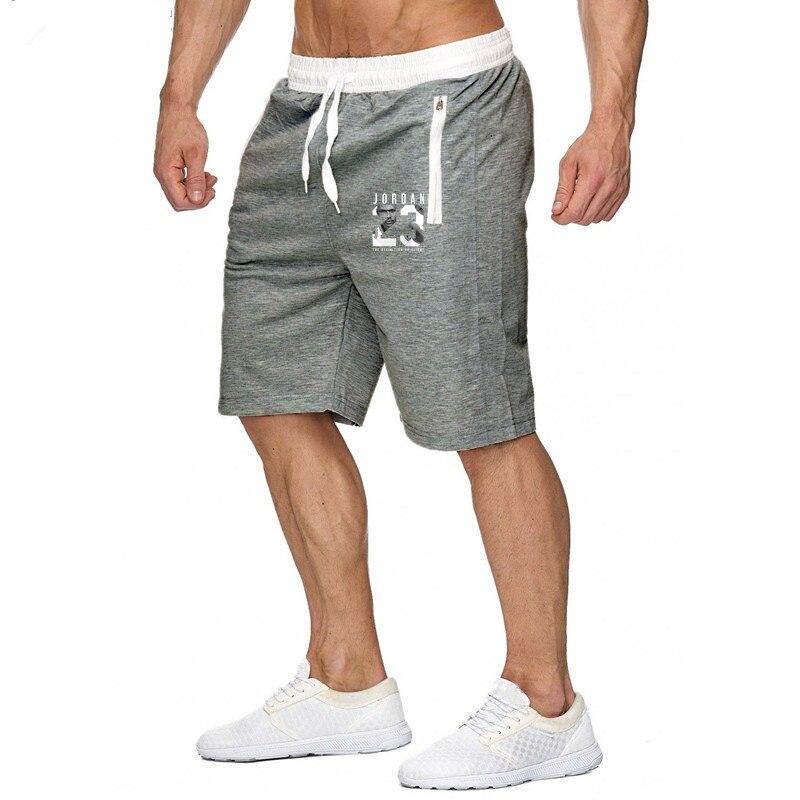 Fashion New Printing Mens Shorts Fitness Bodybuilding Male Short Sweatpants Workout 2019 Spring Summer Men Leisure Shorts