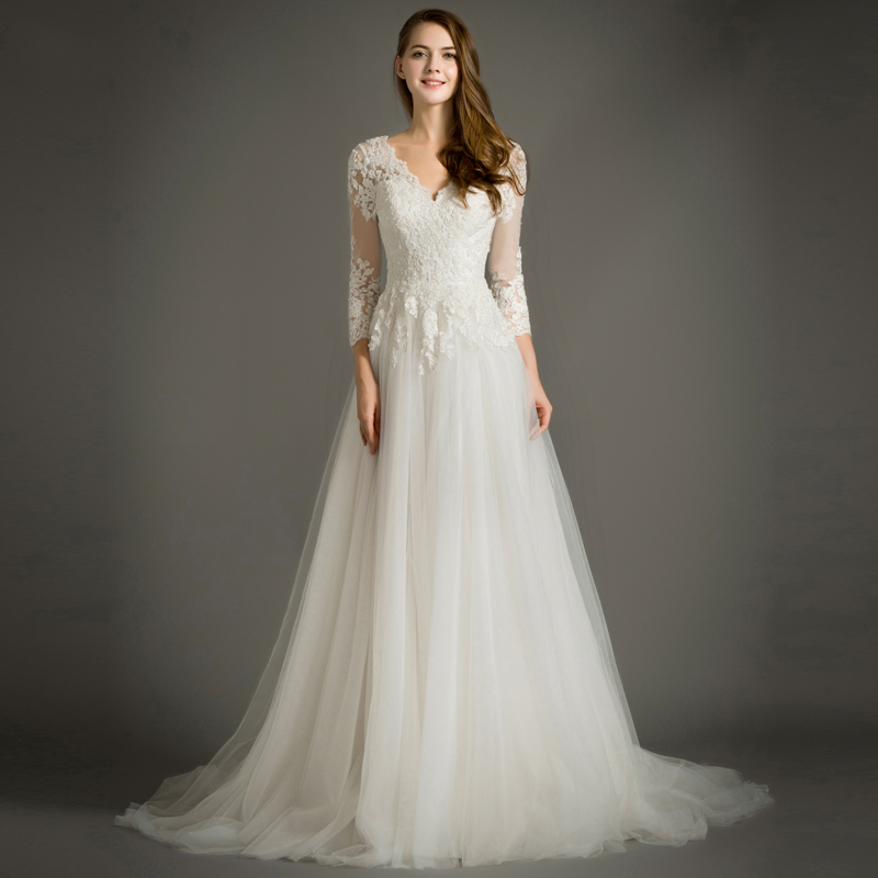 Maternity Wedding Dresses with Sleeves