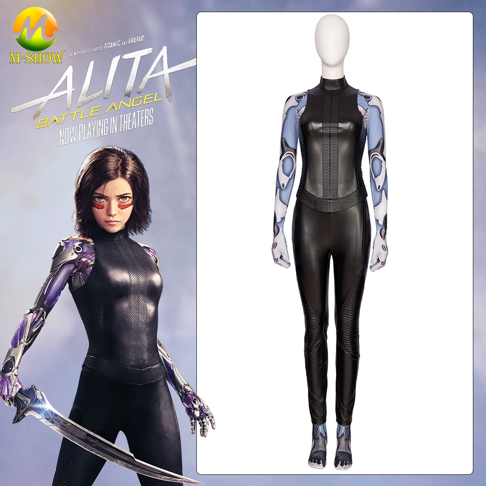 Alita Cosplay Costume Battle Angel Alita Jumpsuit Outfit Halloween CarnivalFor Adult Women Custom Made