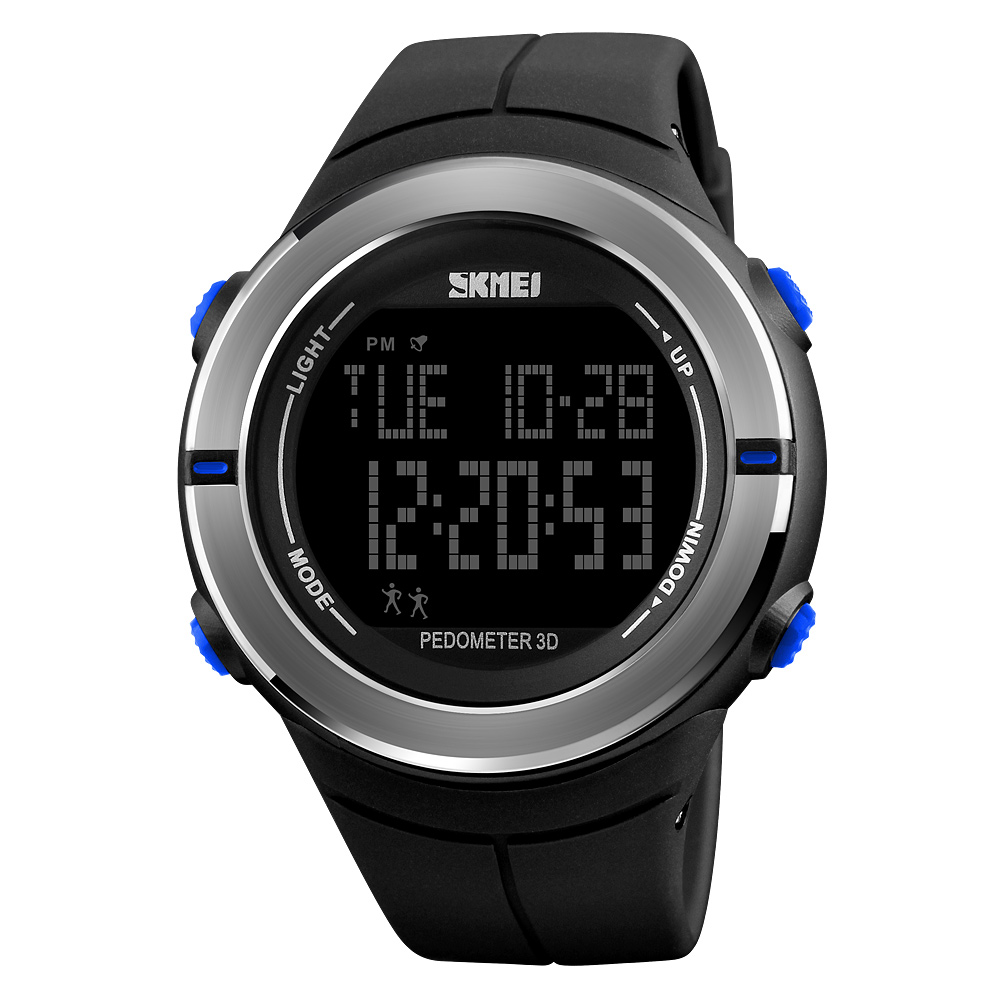 SKMEI Men Sports Watches Fashion Pedometer Calorie Waterproof LED Digital Watch Outdoor Military Watch Relogio Masculino skmei fashion outdoor sports watches men electronic digital watch woman waterproof military wristwatches relogio masculino 1228