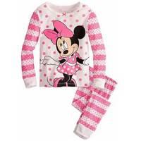 2015 New Cotton Baby Girls Sets Kids Minnie Mouse Pajama Sets Pijama Infantil For Girls Children