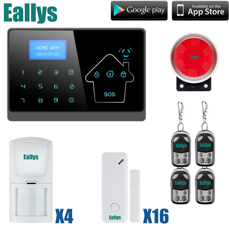 DHL Free Shipping!Wired/wireless Defense Zones Gsm Sms Home Alarm System Door Sensor Kit with pir door sensor cheap helpful home security gsm alarm system with app control 3 wired and 70 wireless defense zones burglar alarm system