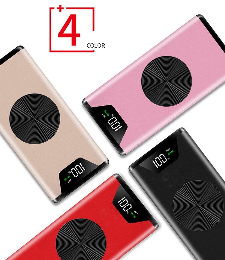 20000 mah Caricatore Senza Fili Qi Accumulatori e caricabatterie di riserva Per iPhone X 8 Più di Samsung Nota 8 S9 S8 Più S7 Powerbank Portatile caricatore Del Telefono Mobile