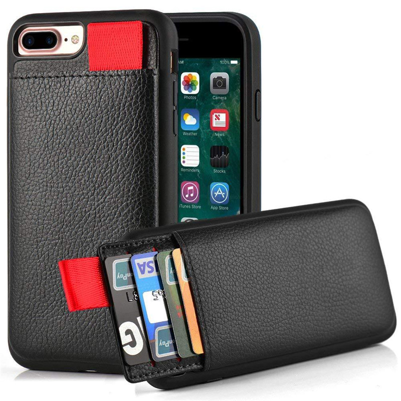 Leather Case For IPhone XS Max XS XR Leather Wallet Cases Card Slot Pull Pouch Cover For IPhone X 6 6S 7 8 Plus Silicone Frame