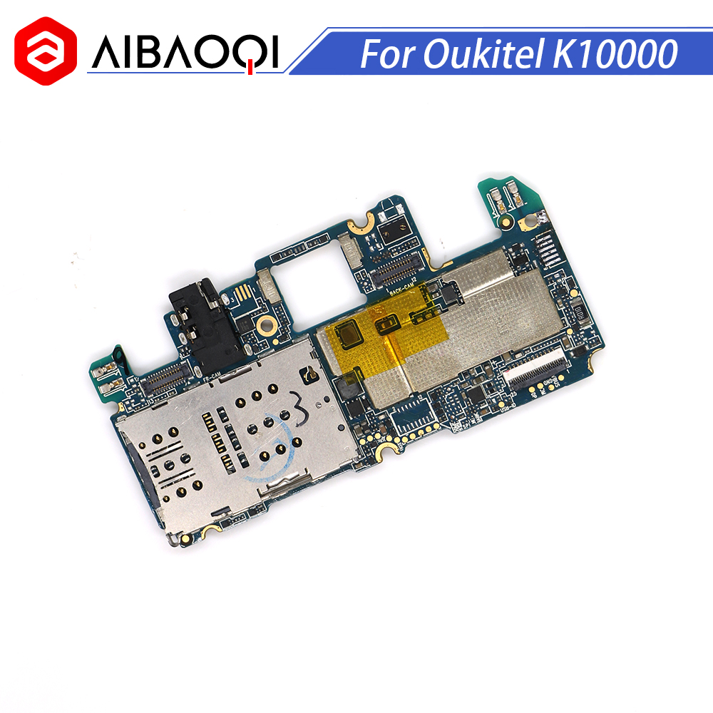 AiBaoQi New Original mainboard 2G 16G ROM Motherboard flex cable board for Oukitel K10000 MT6735 Octa