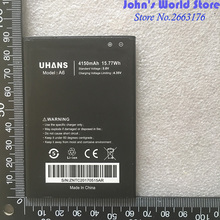 For UHANS A6 Full 4150mAh Mobile Phone 100% Original New Battery Smartphone Replacement