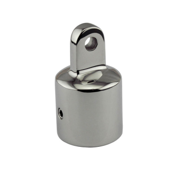 2pcs  Stainless Steel Fitting Hardware for Marine Boat Yacht Bimini Top 25mm Silver Eye End Cap Boat Accessories Marine boat hand rail center stanchion stainless steel top cap fitting boat marine stainless steel universal for boat