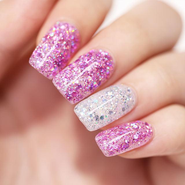 LILYCUTE 7ml Glitter Sequins Nail Gel