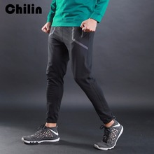 Chilin Men Gyms Pants Casual Elastic cotton Mens Fitness Workout Pants skinny Sweatpants Trousers Jogger Pants L10817