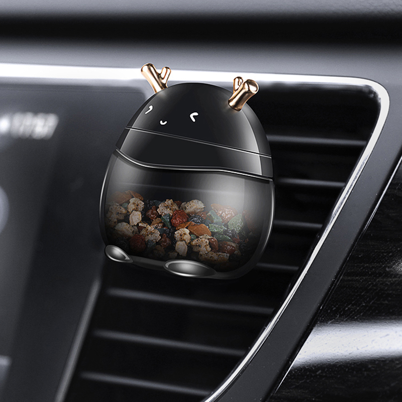 Car Perfume Clip Cute Deer Zeolite Solid Fragrance Air Vent Freshener Auto Outlet Decoration Accessory Trim Diffuser Adornment