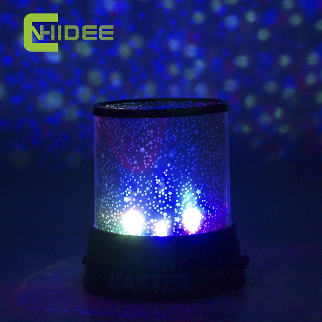 Cnhidee magic 4 led sky starry star night light lamp projector space solar system as home decor for Starry night lights for bedroom