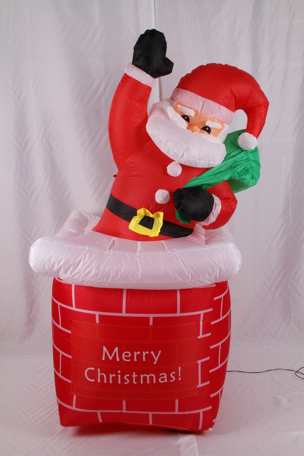 2017 Vioslite 2.45M Inflatable Christmas Santa Claus Rising From Chimney in High Quality for Festival Decoration 5m high big inflatable christmas santa claus climbing wall decoration 16ft high china factory direct sale festival toy