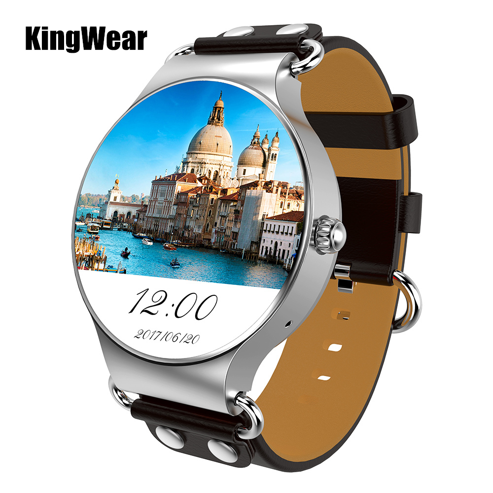 KingWear KW98 3G Smartwatch Phone Android 5.1 1.39 inch MTK6580 Quad Core 1.0GHz 8GB ROM GPS Heart Rate Pedometer Smart Watch songku s99b 3g quad core 8gb rom android 5 1 smart watch with 5 0 mp camera gps wifi bluetooth v4 0 pedometer heart rate