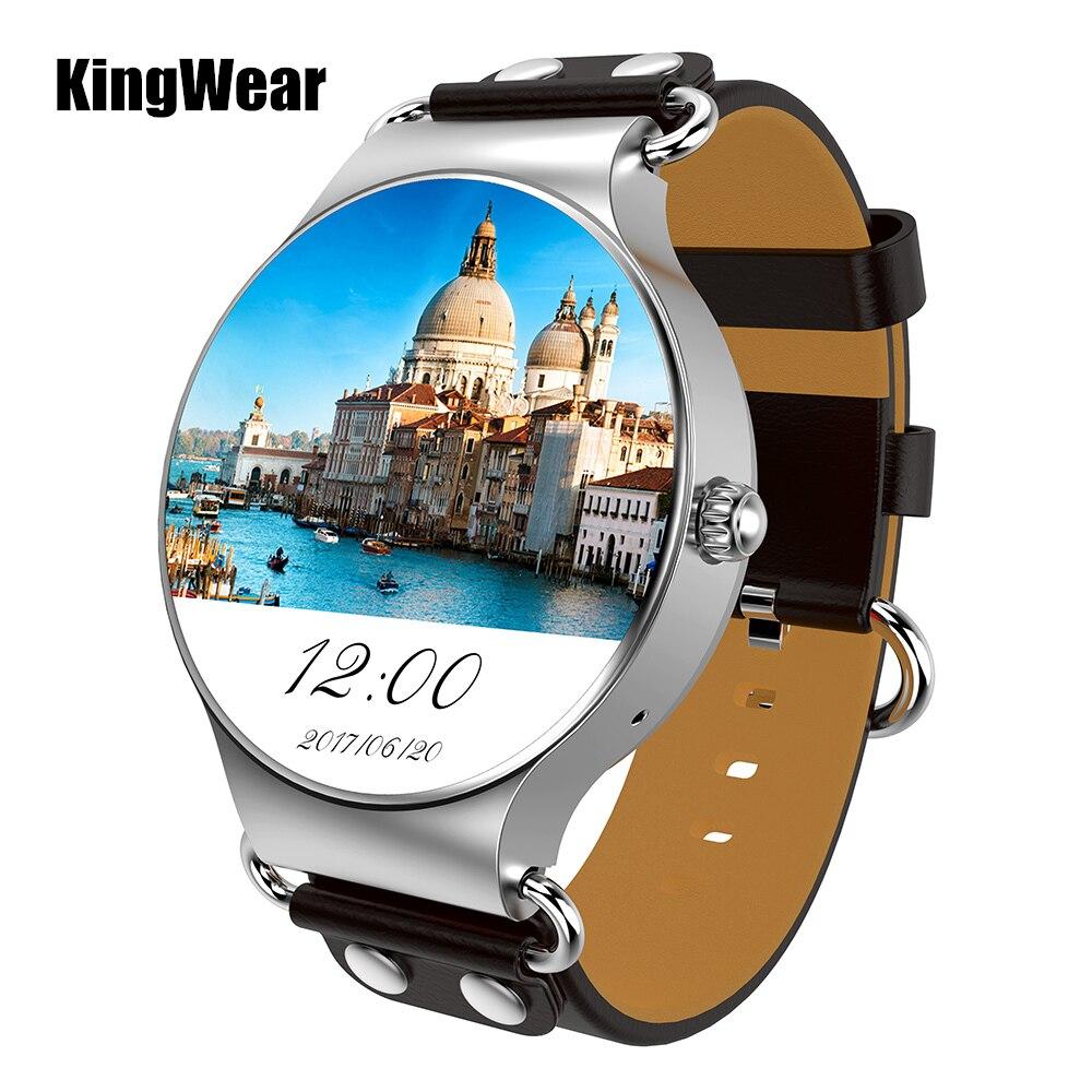 Kingwear KW98 3G smartwatch teléfono Android 5.1 1.39 pulgadas MTK6580 Quad Core 1.0 GHz 8 GB rom gps corazón tasa podómetro reloj inteligente