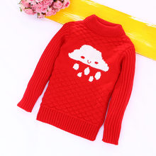 Unini-yun Boys Clothing Christmas Style Children Sweater Winter Pullover Children Sweaters Cloud Pattern Outerwear Knitwear4t3t5(China)