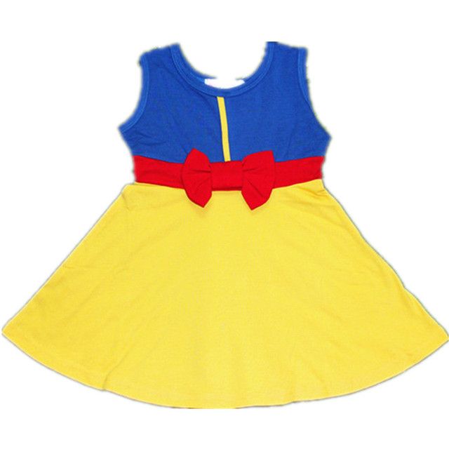 Halloween Mum and Me Dress Family Matching Princess Cosply Dresses Belle Mermaid Minnie Mickey Snow white Party Summer Dress 3