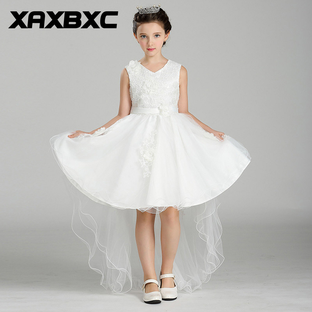 T426 White Floral Princess Dresses Kids Prom Gown Evening Dresss Wedding Party Dress Girls Clothes Tulle Children's Costume варочная панель электрическая whirlpool akt 8130 lx черный