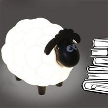 Chiclits Led Night Light Lovely Cartoon Sheep USB Lamp Children Bedroom Desk Lamp Pro0tect Eye Lamp Best Gifts For Child Kids