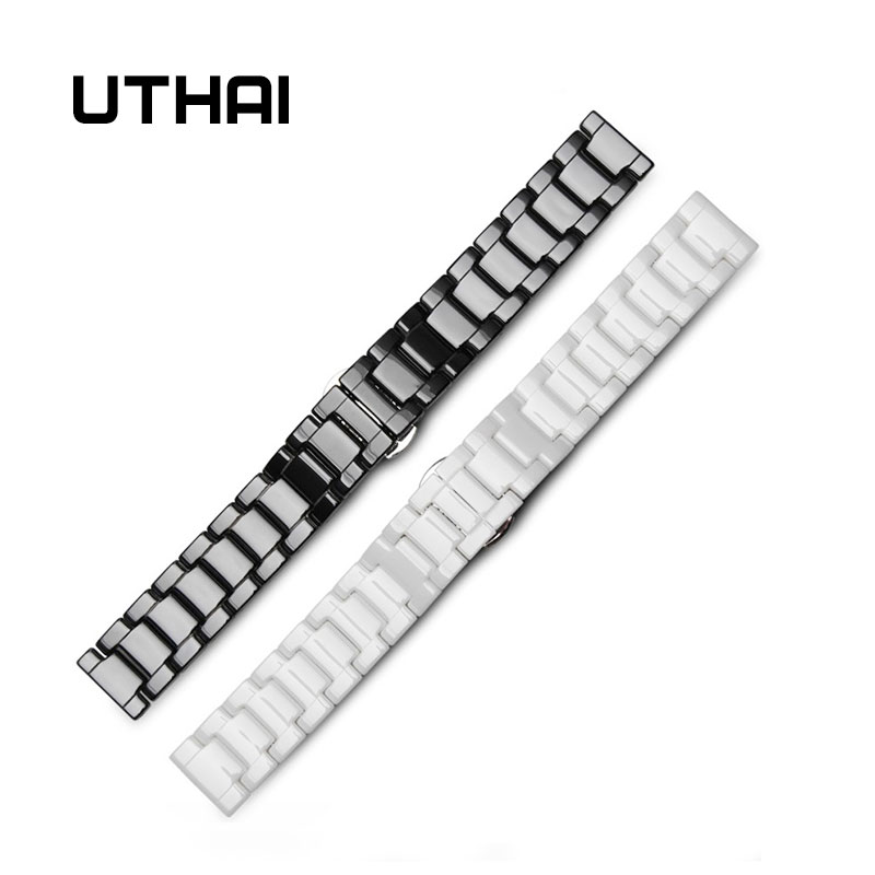 UTHAI C01 Ceramic 20mm Watch Strap 22mm Watch Band High Quality Watchbands