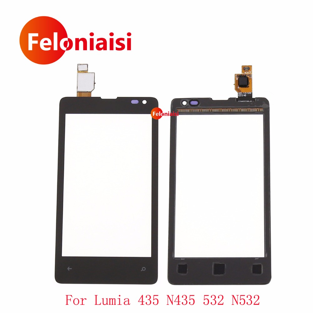 10Pcslot High Quality 4.0 For Nokia Microsoft Lumia 435 N435 532 N532 Touch Screen Digitizer Sensor Outer Glass Lens Panel
