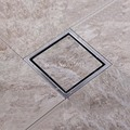 1PCS High Quality Square Brushed 304 Stainless Steel Floor Drain Shower Waste Grate 110mmx110mm ED13