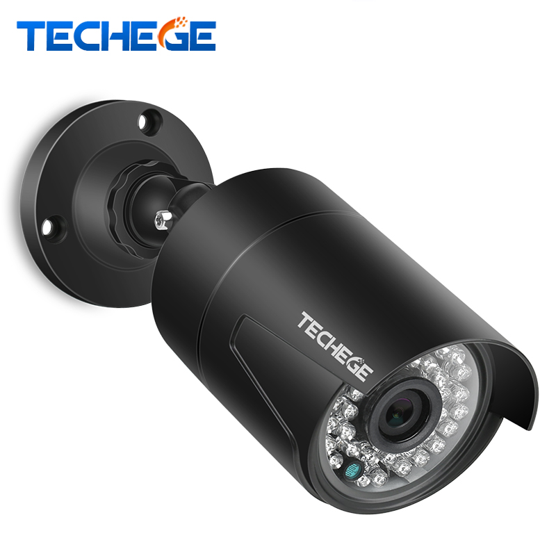 Techege 2.0MP POE IP Camera Night Vision Waterproof ONVIF Motion Detection outdoor surveillance Camera DC 12V 48V PoE Optional