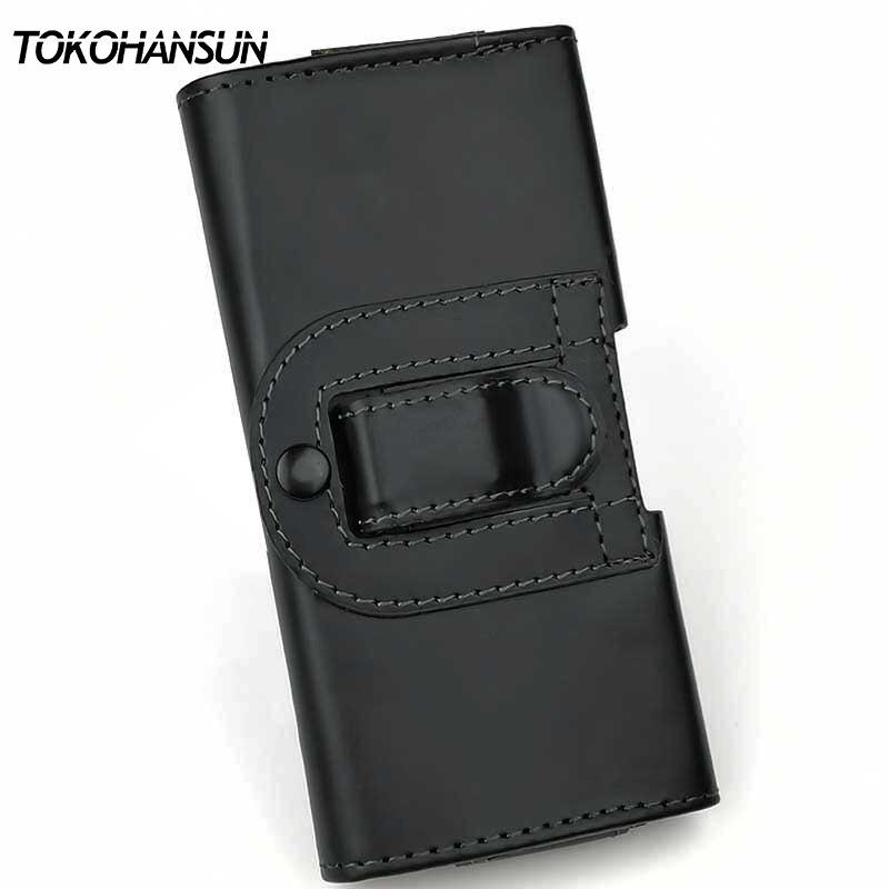 TOKOHANSUN Case for Asus Zenfone Live ZB501KL Smooth/Lichee Plain Leather Pouch Phone Bags Belt Clip Case