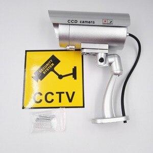 CCTV false Emulational Outdoor Fake Dummy Security Camera cam waterproof Decoy IR Wireless Blinking Flashing Red Led(China)