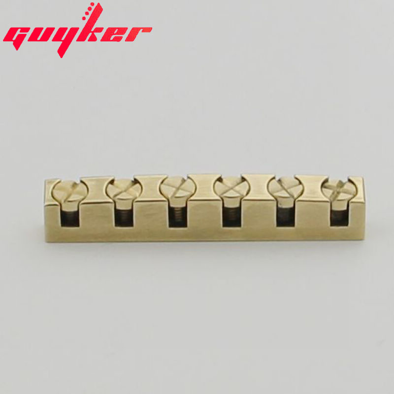 Guyker 43mm Guitar Nut Height Adjustable Bell Brass Nuts Replacement For  LP SG Style Guitar
