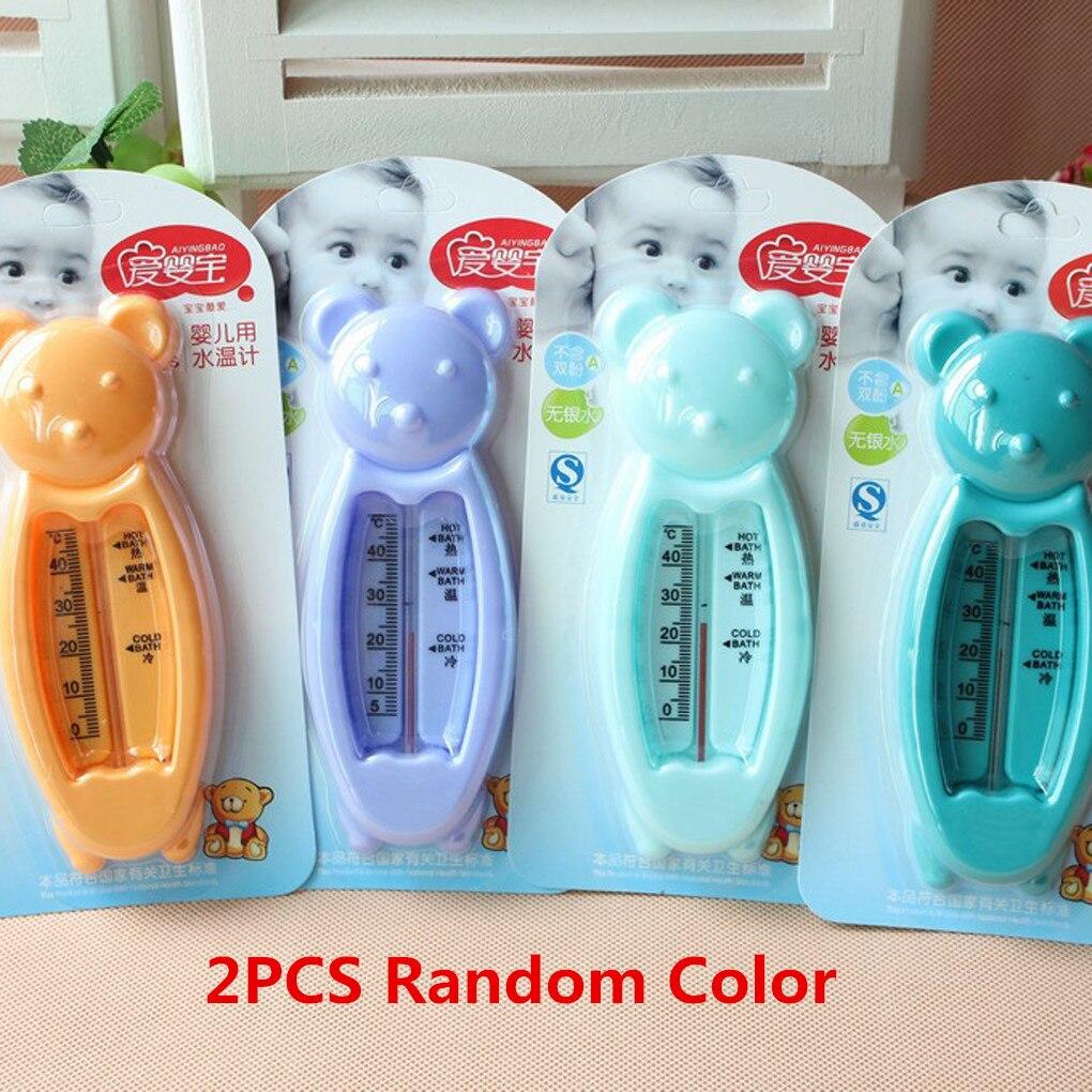 1 Stück/2 Stücke/3 Stücke Zufällige Farbe Cartoon Bär Baby Kinder Bad Wasser Thermometer Kunststoff Badewanne Wasser Sensor Thermometer Dropshipping