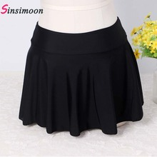Women Bottom Skirt Without Shorts Solid Swimsuit High Waist Swimwear Plus Size S