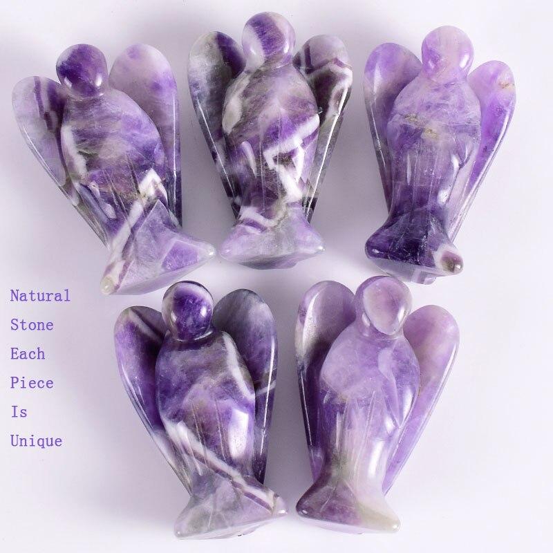 "2/"" Angel Natural Dragon Blood Stone Crystal Carved Healing Reiki Figurine Craft"