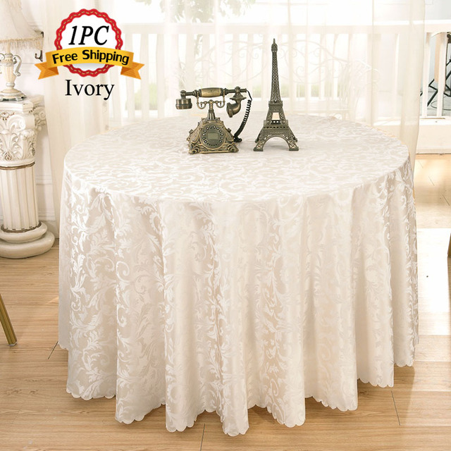 Jacquard Floral Rectangular Tablecloth Home Hotel Dining Table ...