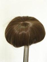 NPK 55-57cm Full Silicone Reborn Boy Sticked Hair Wig 22 inch Silicone Realistic Reborn Baby Dolls Hair Wig DIY Doll Accessory