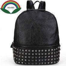 Натуральная кожа рюкзаки женские школьная сумка свободного покроя новые модные заклепки женская кожа коровы tophandle сумки женские сумки