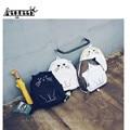Aequeen gato adorável backpack para as mulheres mochilas de lona ocasional bolsa escola mochilas menina meninas mochila sacos