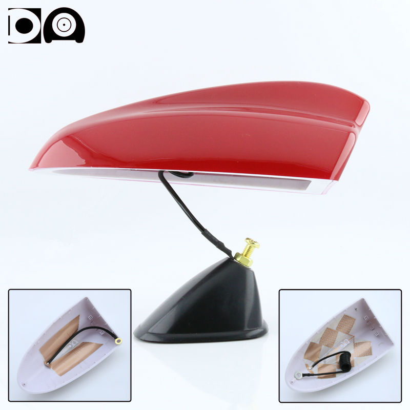 Super shark fin antenna special car radio aerials ABS plastic Piano paint PET S PET L for Nissan Micra accessories