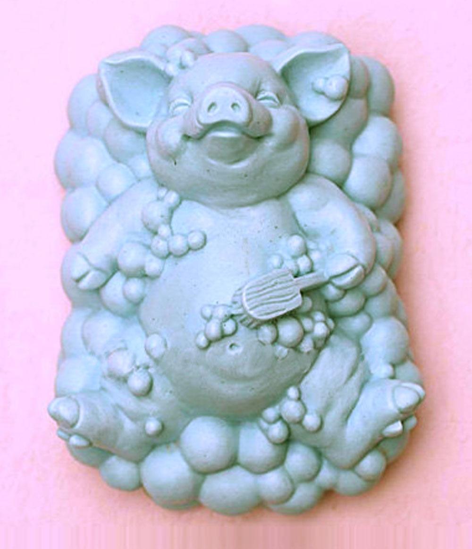 ⑦Счастливая свинья в валяться мыло формы силиконовые формы - a711 eca48bf89f3