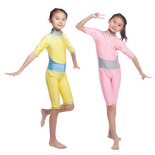Muslim Swimwear badpak Kid Islamic swimming clothes muslim swim suit modest full Swimsuits For child muslimah suits hijab